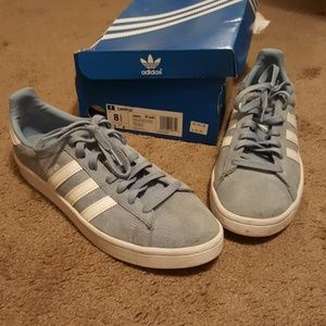 Adidas Campus 8.5 light blue white